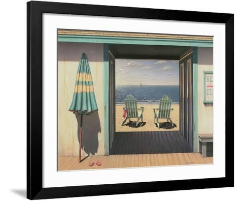 Beach Club-Daniel Pollera-Framed Art Print