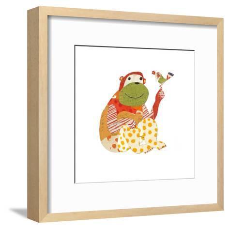 Big Ape, Little Bird-Sarah Battle-Framed Art Print