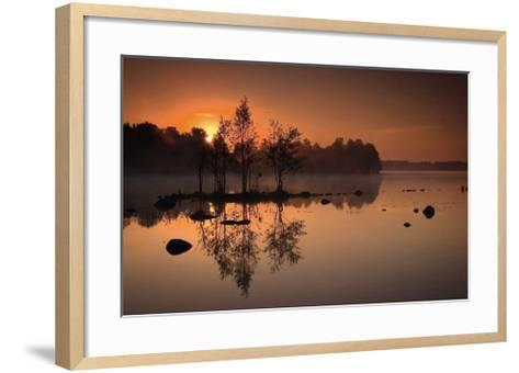 By the Lake-J?rgen Sch?n-Framed Art Print