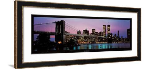 Brooklyn Bridge and New York City Skyline-Richard Sisk-Framed Art Print