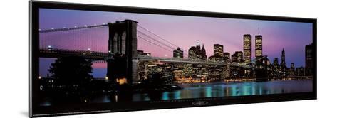 Brooklyn Bridge and New York City Skyline-Richard Sisk-Mounted Art Print