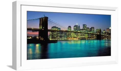 Brooklyn Bridge, New York-Peter Bennet-Framed Art Print