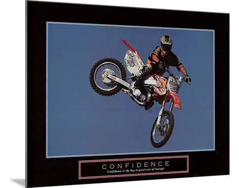 Confidence ? Motorbiker-Unknown-Mounted Art Print