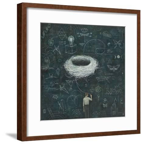 Drafting, Drifting ConsciousNest-Duy Huynh-Framed Art Print