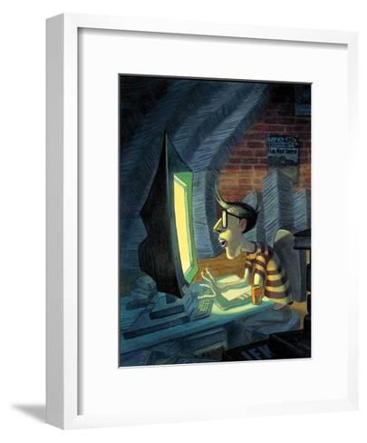 CyberSquatter-BUA-Framed Art Print