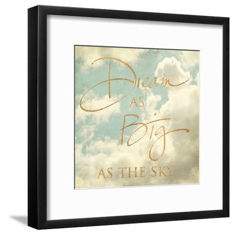 Dream as Big as the Sky (gold foil)-Sarah Gardner-Framed Art Print