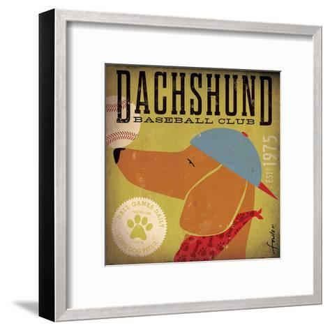 Dachshund Baseball-Stephen Fowler-Framed Art Print
