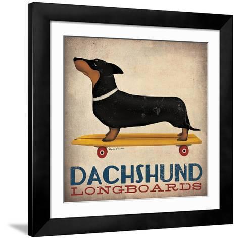 Dachshund Longboards-Ryan Fowler-Framed Art Print