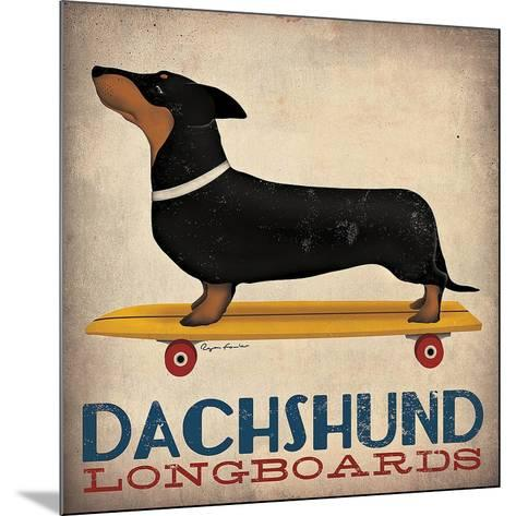 Dachshund Longboards-Ryan Fowler-Mounted Art Print