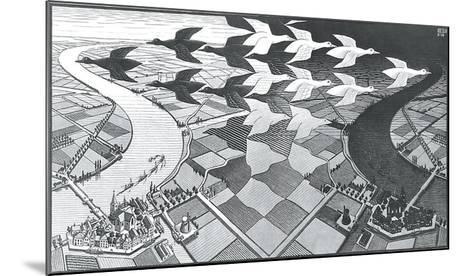 Day and Night-M^ C^ Escher-Mounted Art Print