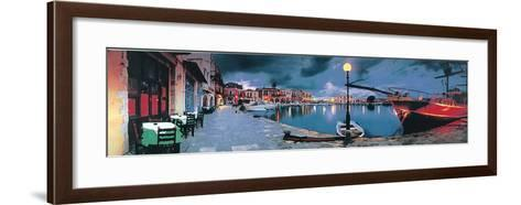 Evening in Greece-George Meis-Framed Art Print