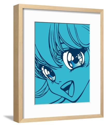 Girl in Blue-Terratag-Framed Art Print