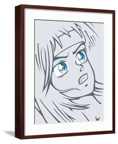 Girl in Grey-Terratag-Framed Art Print