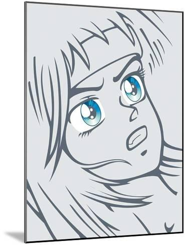 Girl in Grey-Terratag-Mounted Art Print