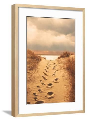 Footprints in the Sand-Jane Booth Vollers-Framed Art Print