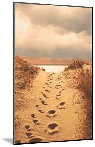 Footprints in the Sand-Jane Booth Vollers-Mounted Art Print