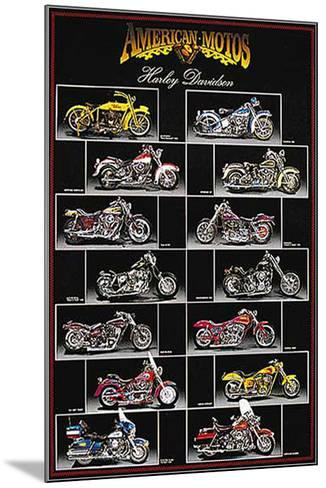 Harley Davidson Chart-Unknown-Mounted Art Print