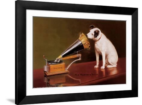 His Master's Voice-Unknown-Framed Art Print