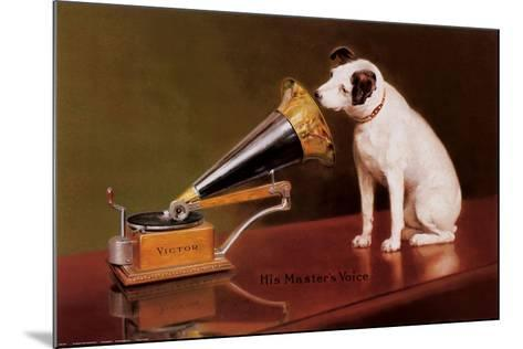 His Master's Voice-Unknown-Mounted Art Print