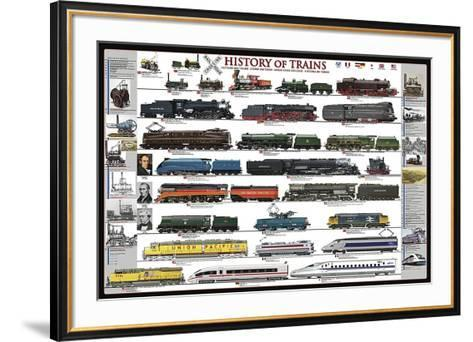 History of Trains-Unknown-Framed Art Print