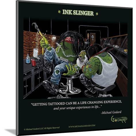 Ink Slinger-Michael Godard-Mounted Art Print