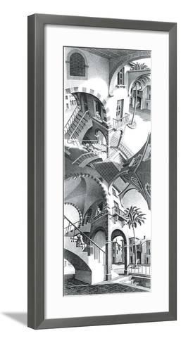 High and Low-M^ C^ Escher-Framed Art Print