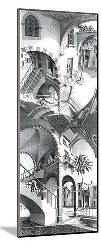High and Low-M^ C^ Escher-Mounted Art Print