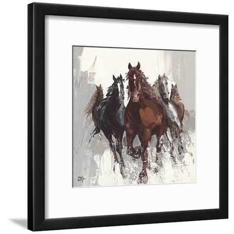 Les Cheveaux II-Bernard Ott-Framed Art Print