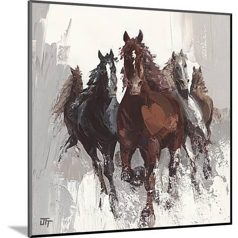 Les Cheveaux II-Bernard Ott-Mounted Art Print
