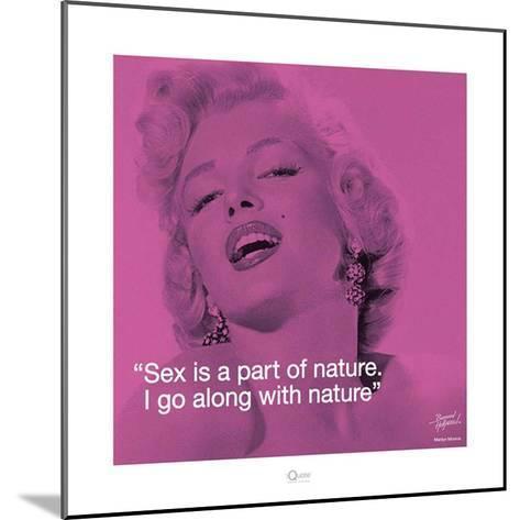 Marilyn Monroe – Nature-Bernard of Hollywood-Mounted Art Print