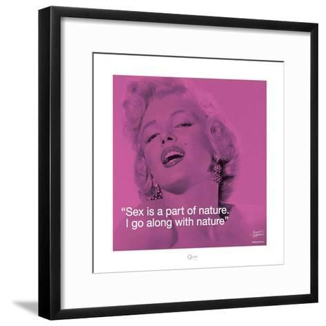 Marilyn Monroe – Nature-Bernard of Hollywood-Framed Art Print