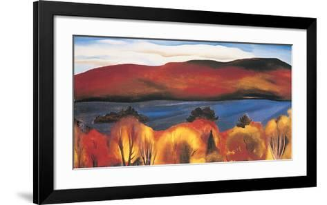 Lake George, Autumn, 1927-Georgia O?keeffe-Framed Art Print