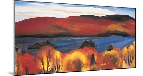 Lake George, Autumn, 1927-Georgia O?keeffe-Mounted Art Print