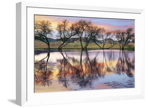 Lake Reflection-E. Loren Soderberg-Framed Art Print