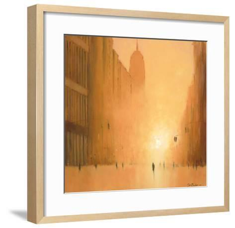 Morning Light - 5th Avenue-Jon Barker-Framed Art Print
