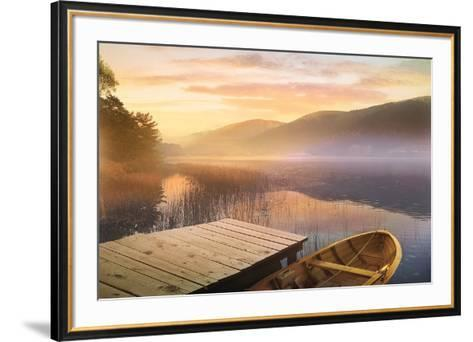 Morning on the Lake-Steve Hunziker-Framed Art Print