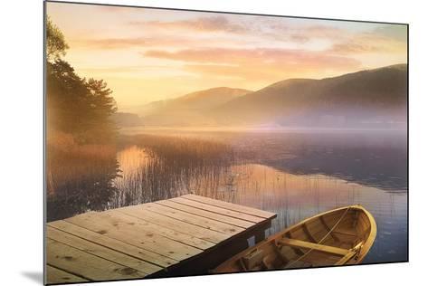 Morning on the Lake-Steve Hunziker-Mounted Art Print