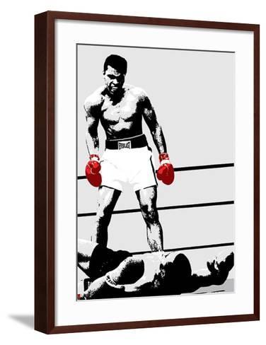 Muhammad Ali (Gloves)-Unknown-Framed Art Print