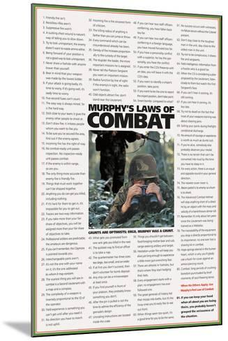 Murphy's Laws of Combat-Unknown-Mounted Art Print
