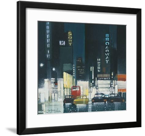 Night on Broadway-Xavier Carbonell-Framed Art Print