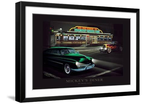 Mickey's Diner-Helen Flint-Framed Art Print