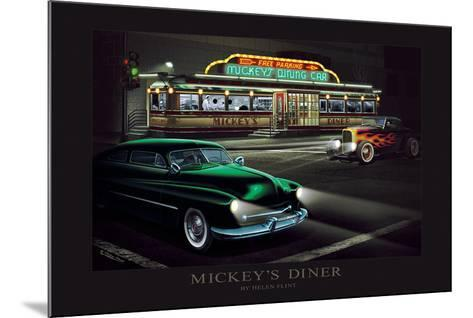 Mickey's Diner-Helen Flint-Mounted Art Print