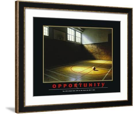Opportunity-Unknown-Framed Art Print