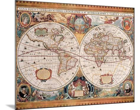 Orbis Geographica (Ac Hydrographica)-Jan Jansson-Mounted Art Print
