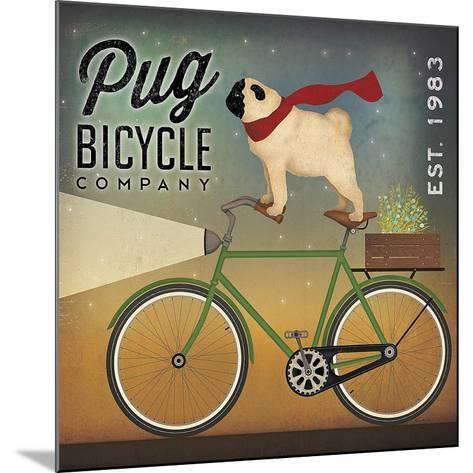 Pug on a Bike-Ryan Fowler-Mounted Art Print