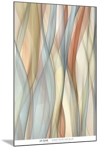 Sheer Taupe and Blue-J^P^ Clive-Mounted Art Print