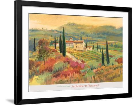 September in Tuscany II-David Jackson-Framed Art Print