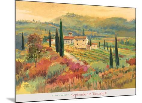 September in Tuscany II-David Jackson-Mounted Art Print