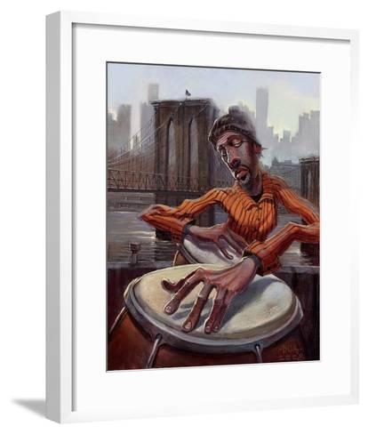 The Conga Player-BUA-Framed Art Print