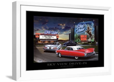 Sky View Drive-In-Helen Flint-Framed Art Print